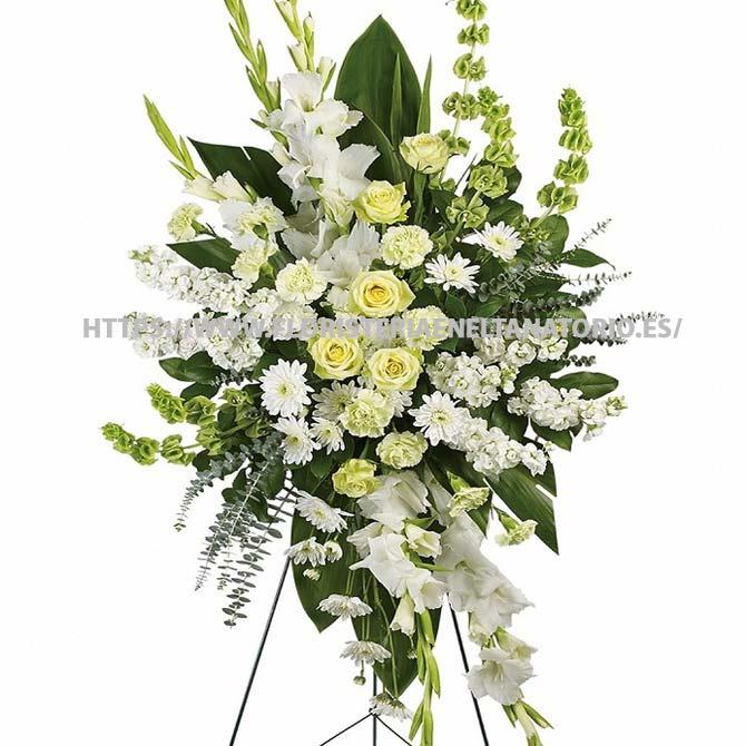 palma floral funebre para tanatorio