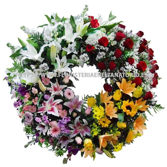 corona floral funebre para tanatorios