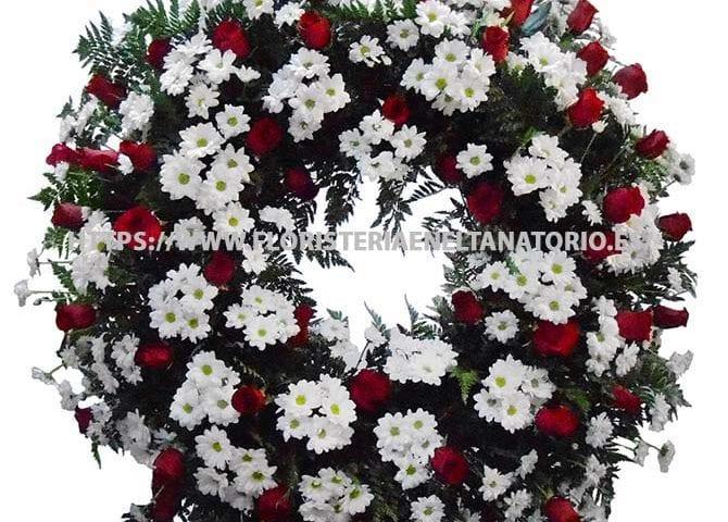 corona floral funebre para tanatorio