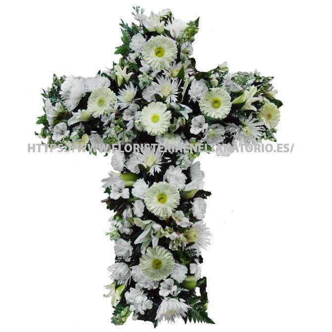 cruz floral funebre para tanatorios